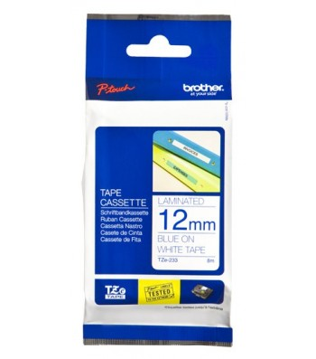 Brother TZe-233 labelprinter-tape Blauw op wit (TZE-233)