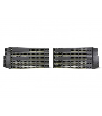 Cisco Catalyst WS-C2960X-48TD-L netwerk-switch Managed L2 Gigabit Ethernet (10/100/1000) Zwart (WS-C2960X-48TD-L)