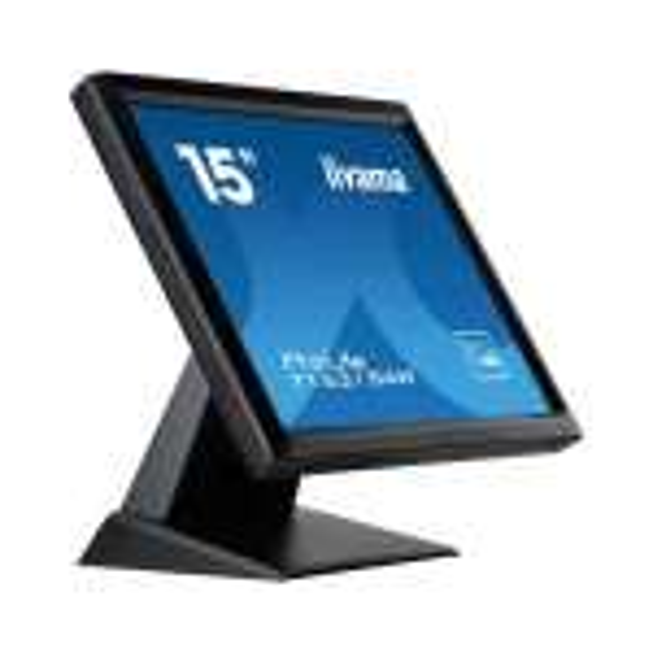 "iiyama ProLite T1531SAW-B5 touch screen-monitor 38,1 cm (15"") 1024 x 768 Pixels Zwart Single-touch(T1531SAW-B5)"