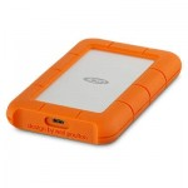 LaCie Rugged USB-C externe harde schijf 1000 GB Oranje, Zilver(STFR1000800)