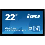 "iiyama ProLite T2235MSC touch screen-monitor 54,6 cm (21.5"") 1920 x 1080 Pixels Zwart Multi-touch Tafelblad (T2235MSC-B1)"