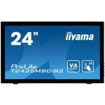 "iiyama ProLite T2435MSC-B2 touch screen-monitor 59,9 cm (23.6"") 1920 x 1080 Pixels Zwart Multi-touch (T2435MSC-B2)"