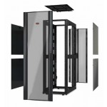 APC NetShelter SX 48U 750mm Wide x 1200mm Deep Enclosure Without Sides Without Doors Black(AR3357X617)