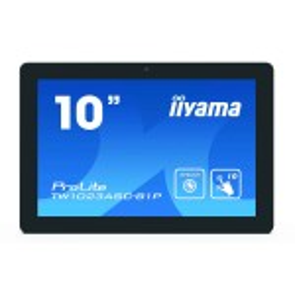 "iiyama ProLite TW1023ASC-B1P touch screen-monitor 25,6 cm (10.1"") 1280 x 800 Pixels Zwart Multi-touch Multi-gebruiker(TW1023ASC-B1P)"