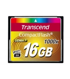 Transcend CompactFlash Card 1000x 16GB flashgeheugen MLC