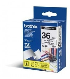 Brother TZe-261 labelprinter-tape Zwart op wit
