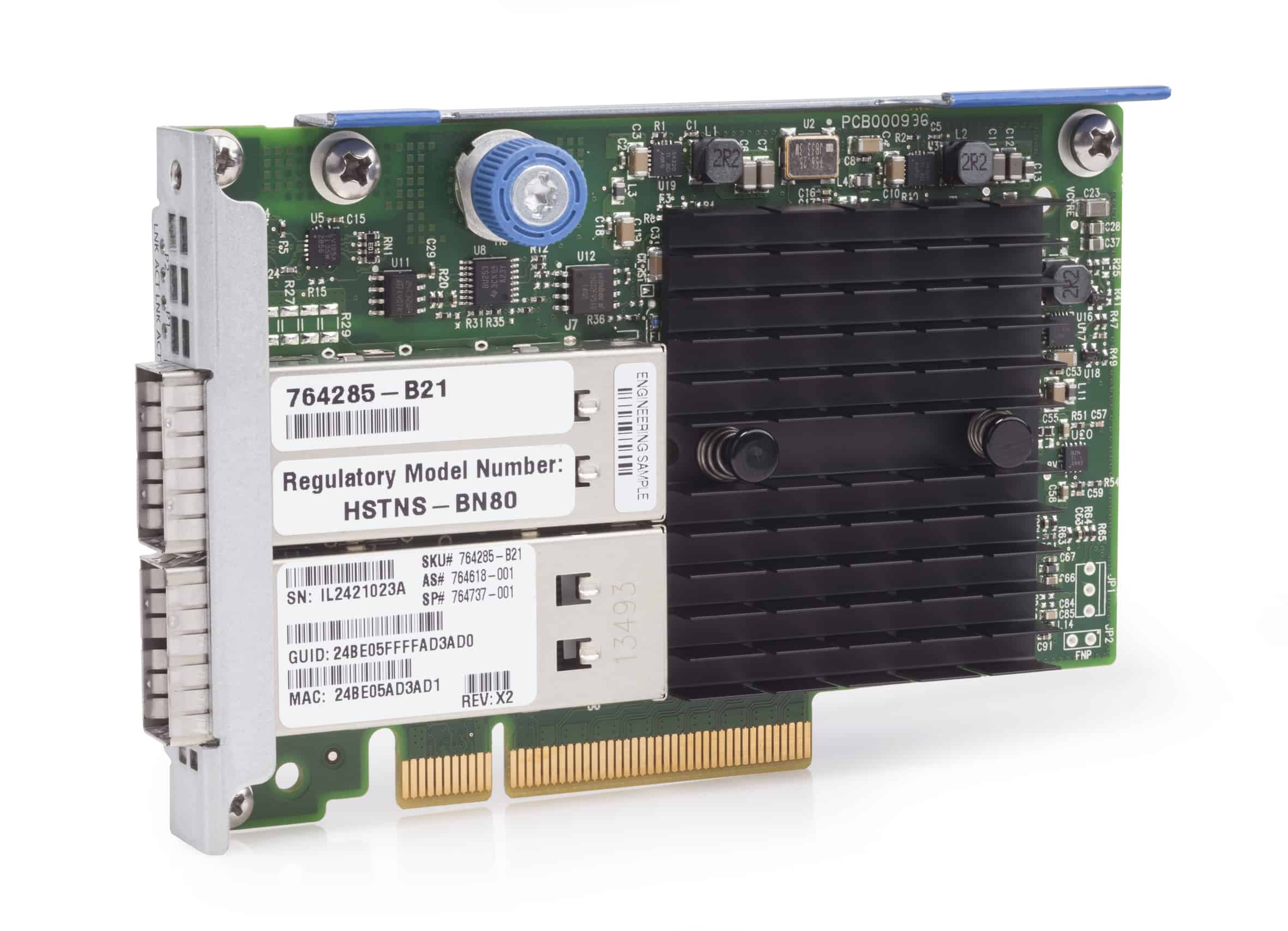 Afbeelding van Hewlett Packard Enterprise InfiniBand FDR/Ethernet 10Gb/40Gb 2-port 544+FLR-QSFP Adapter Ethernet / Fiber 40000 Mbit/s Intern