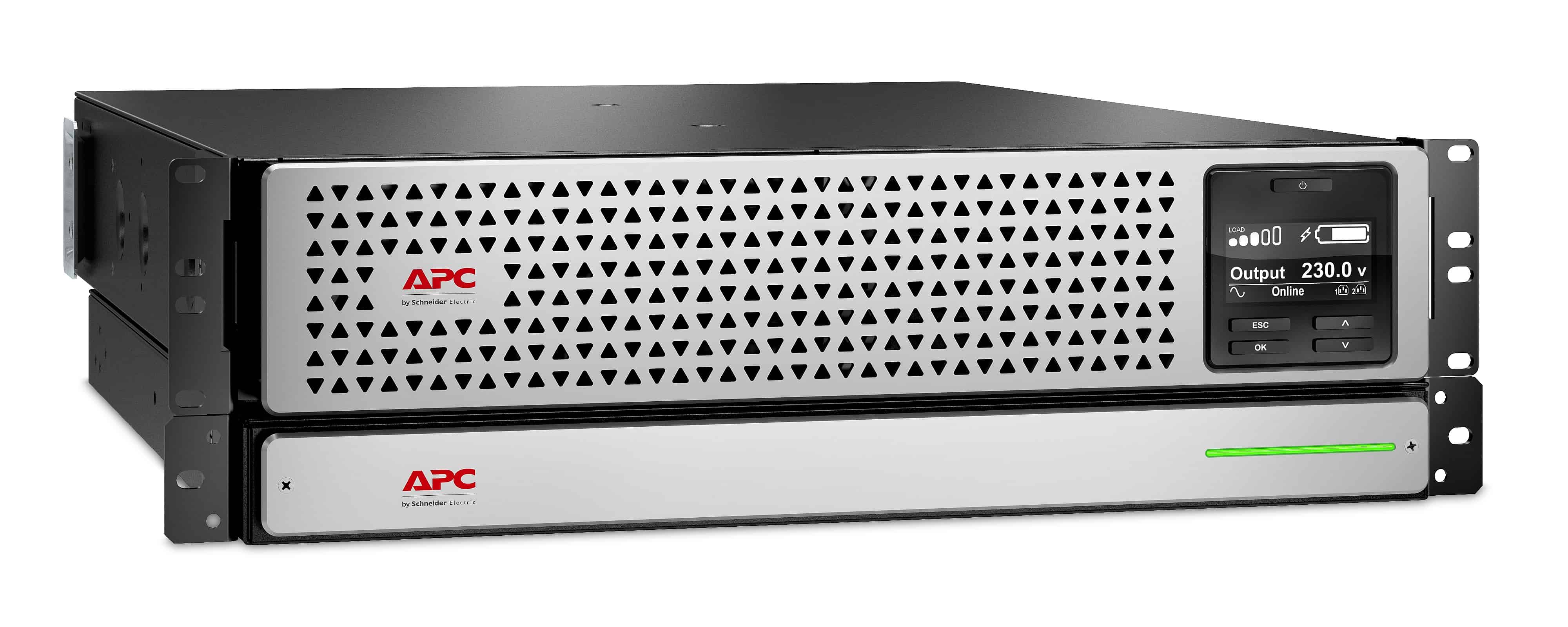 Afbeelding van APC Smart-UPS On-Line SRT Li-Ion 1000VA Noodstroomvoeding 8x C13, USB, Rack/tower convertible, NMC