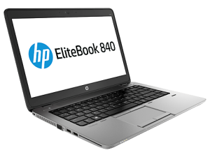 HP EliteBook 840 G1 side/front (open)