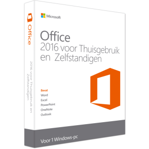Microsoft Office Thuisgebruik en Zelfstandigen 2016 Windows box