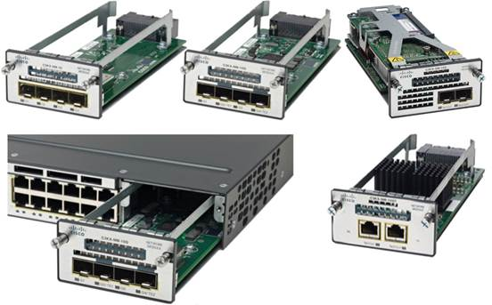 Cisco Catalyst 3750-X Series modules