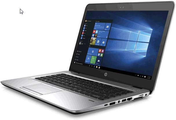 HP EliteBook 840 G4 (front, open)
